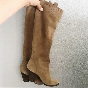 Vince Camino Knee High Suede Boots